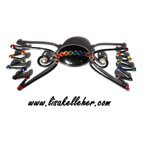 Bon Bon Bow Tie Midnight Graffiti Rainbow Crystals