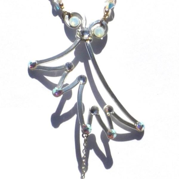 Angel Wing Ring Bracelet Silver Moonlight Main