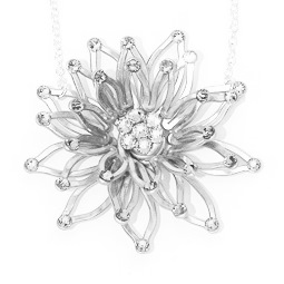Echiveria Necklace Black and White Main