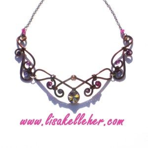 Fairy Queen Necklace Bronze Main