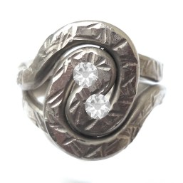 Pewter Spiral Adjustable Ring