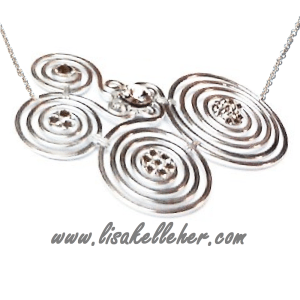 Spirals Necklace Silver Crystal Ice Main