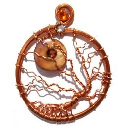 Tree of Life Harvest Moon Pendant Copper
