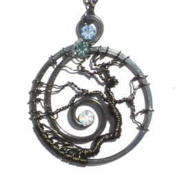 Tree of Life Spiral Galaxy Black Hole Charcoal Steel Main