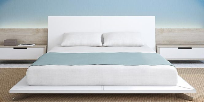Bed With Hypoallergenic Mattress Cover