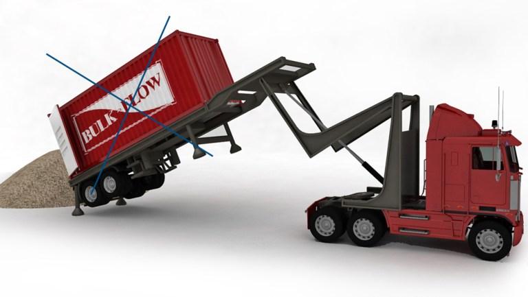 Tilting-tractor-unloading