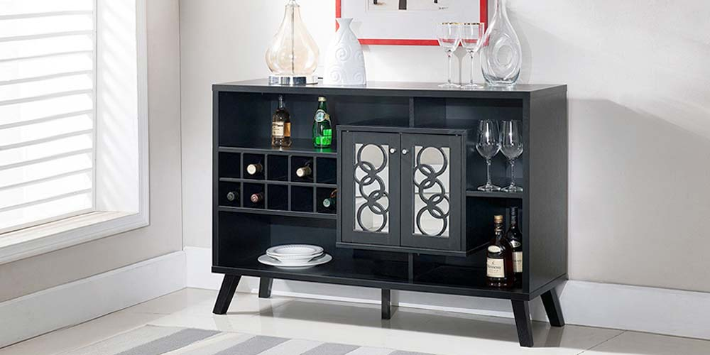 can you put a wine rack in living room elle decor small rooms credenzas how to store with style compactappliance com it sometimes seem as if there s an endless array of options when comes deciding your should live cellar