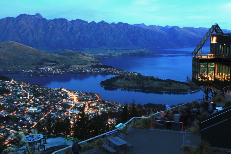 Queenstown at nighttime photograph