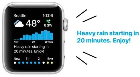 Carrot Weather for Apple watch app