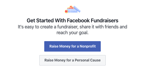 facebook fundraiser campaign