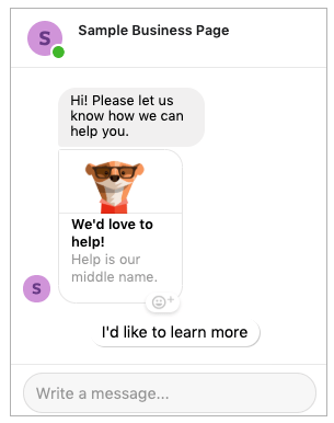 sponsored messenger ad