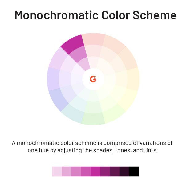 the 6 color schemes