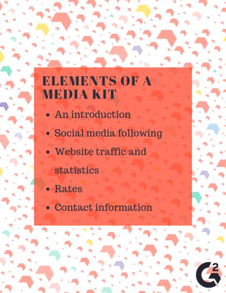 Elements of a media kit