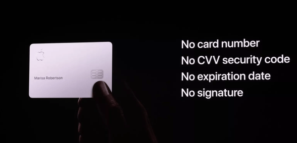 physical titanium Apple Card has no numbers on it