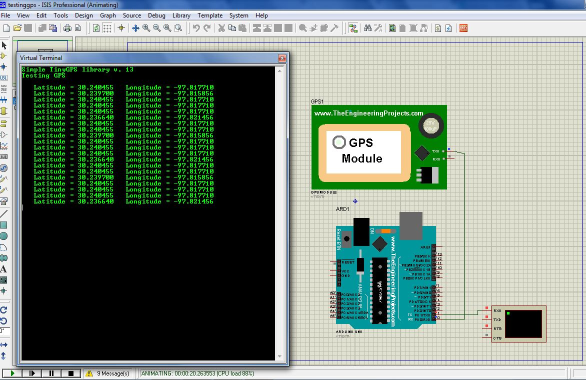 How to simulate GPS Module In Proteus - Invent Electronics Tutorials