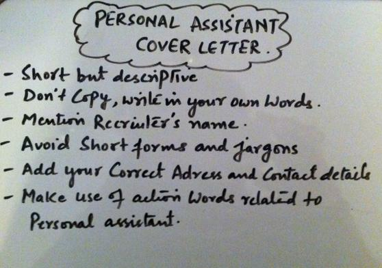 Writing A Personal Assistant Cover Letter  CoverLetter