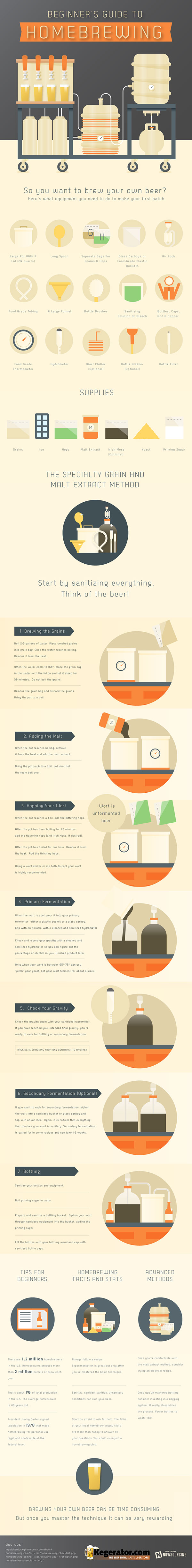 Beginner's Guide to Homebrewing Infographic