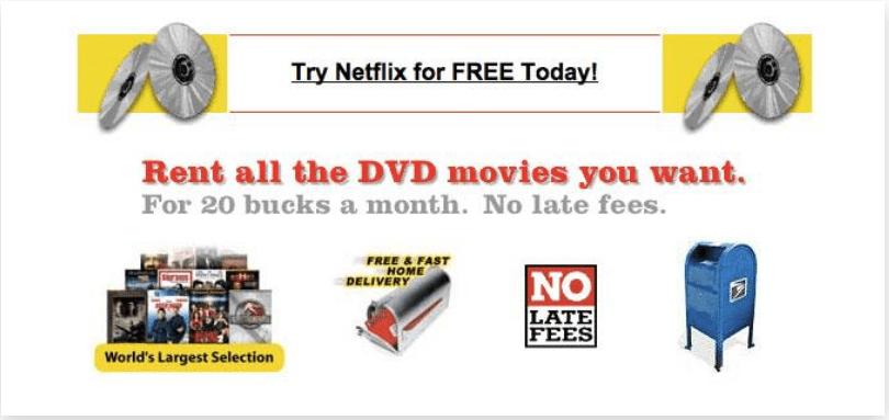 First Version of Netflix Website