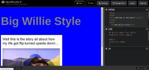 HTML code example