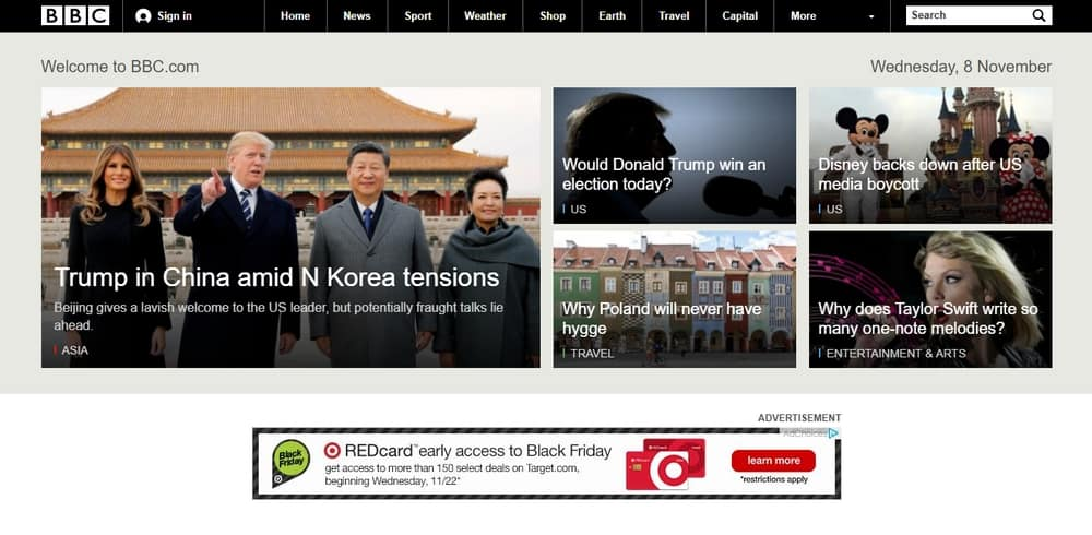 BBC uses WordPress