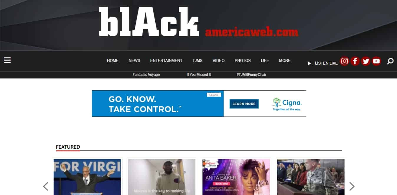 Black America Web is built with WordPress