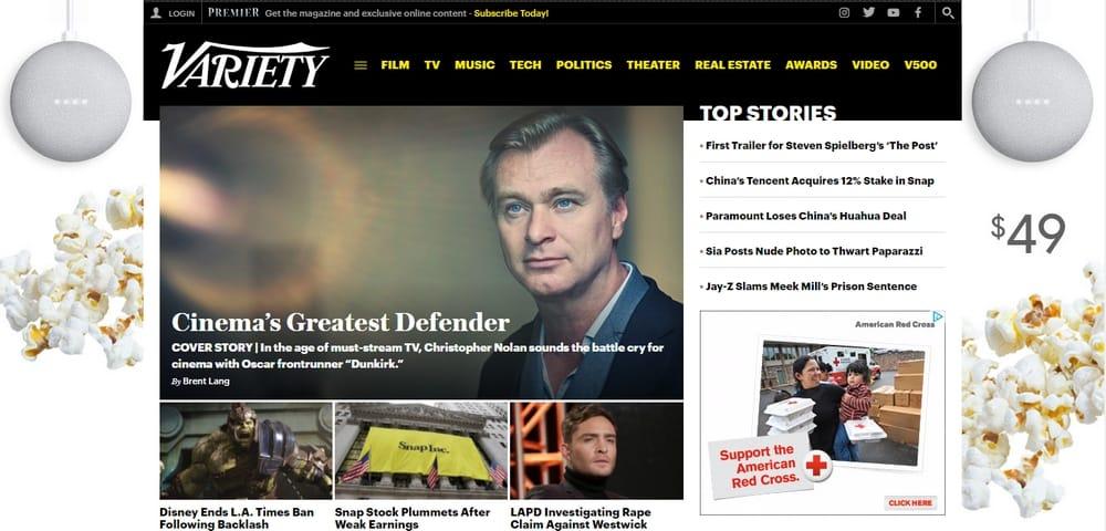 Variety Magazine uses WordPress