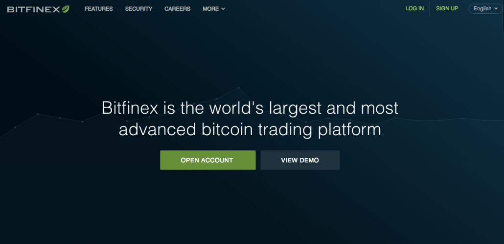 Coinbase alternative: Bitfinex