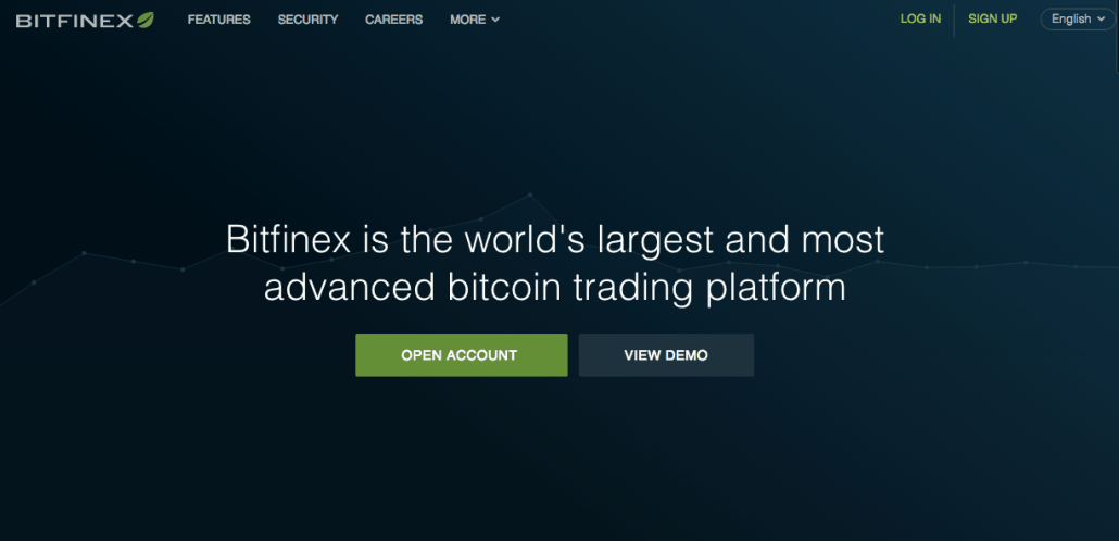 Coinbase alternative: Bitfinex