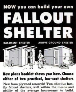 Cold War Fallout Shelter ad in Popular Science, 1962