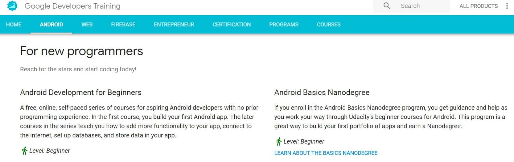Learn Mobile App Development with Google Developers Training