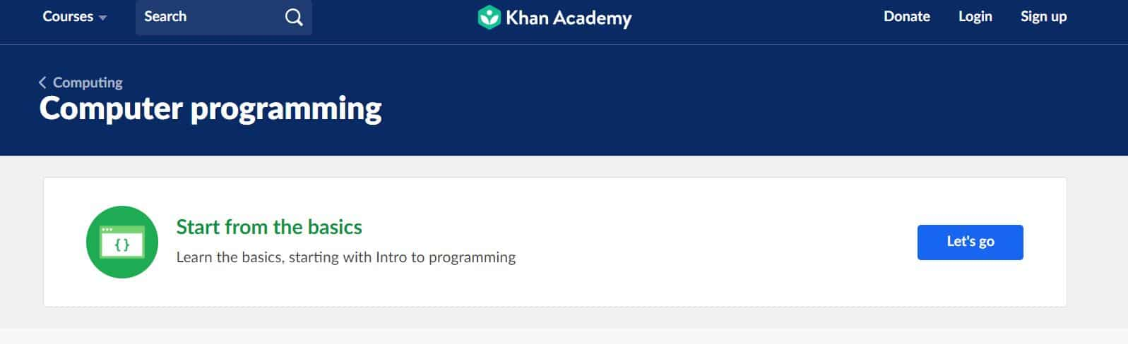 Learn to Code with Khan Academy