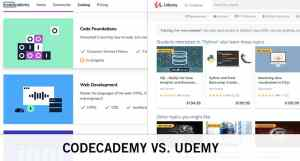 codecademy vs. udemy