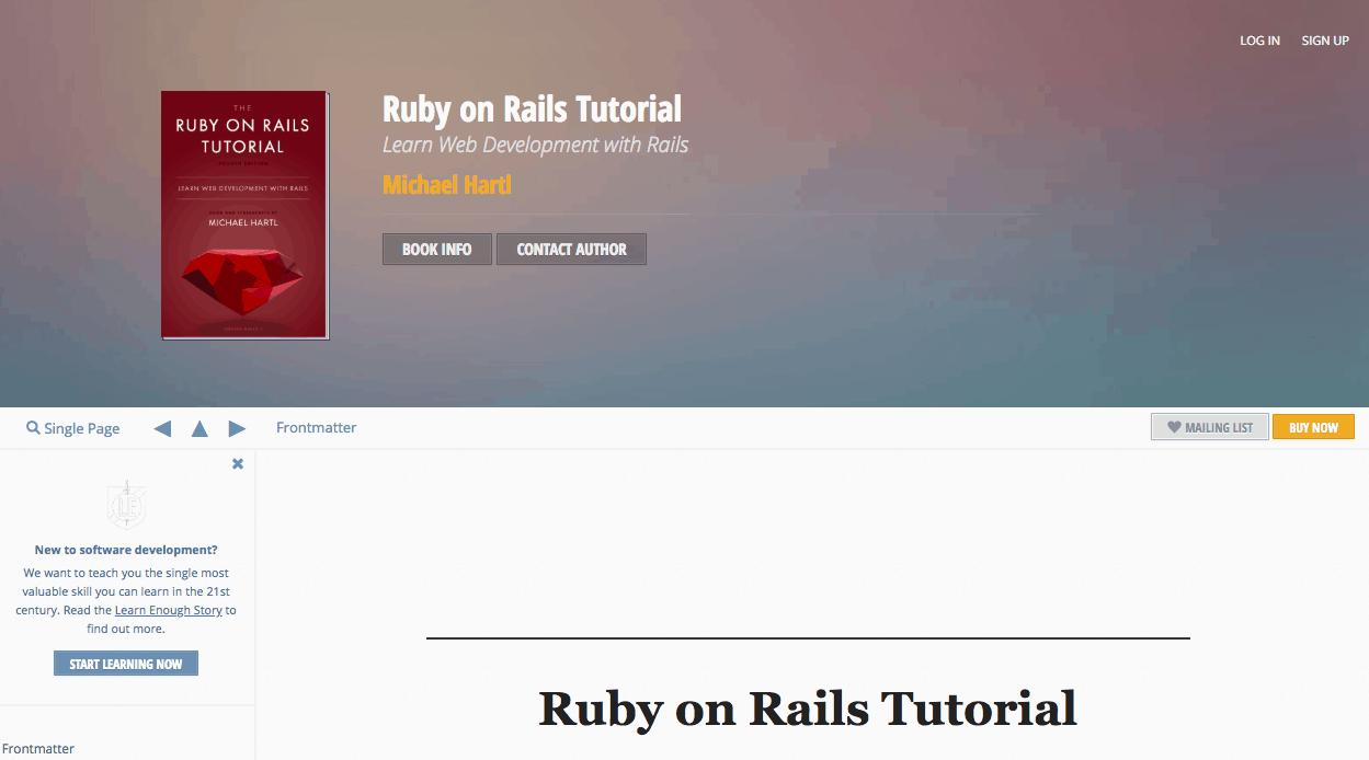 Ruby On Rails Tutorial Michael Hartl Ebook