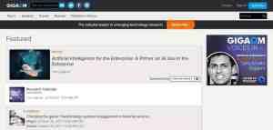Gigaom uses WordPress