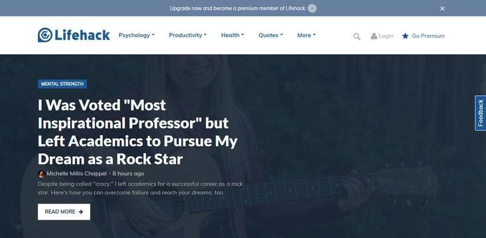 Life Hack uses WordPress