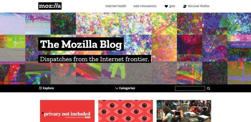 Mozilla uses WordPress