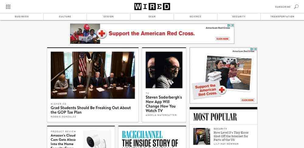 Wired uses WordPress