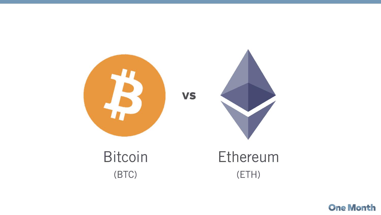 Bitcoin 对比Ethereum: 有什么区别?