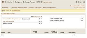 my bank account screenshot