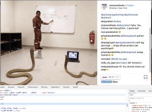 Edit instagram likes with web dev tools
