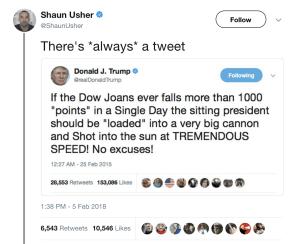 Shaun Usher's Trump Tweet Fake News
