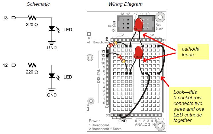 LED Test Circuit Learn Parallax Com