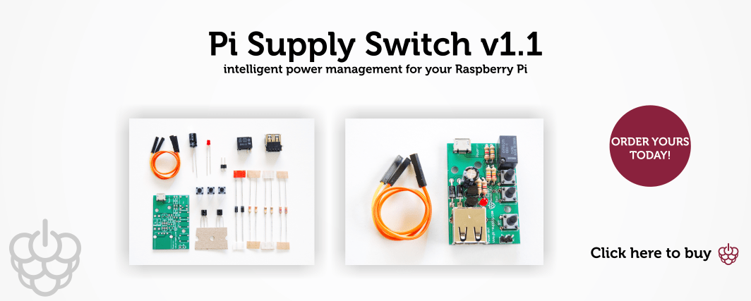 Pi Supply Switch v1.1 Slide