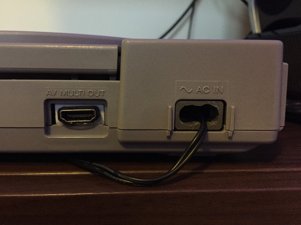 Modified Power Port and HDMI Port