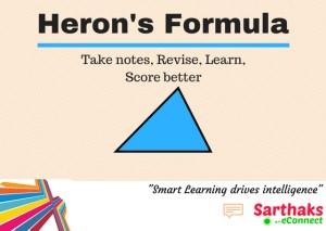 Heron's formula title