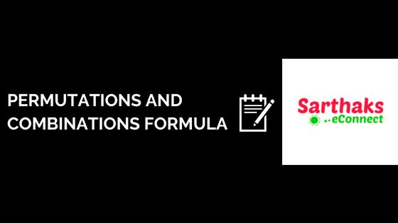 permutation and combinations formula