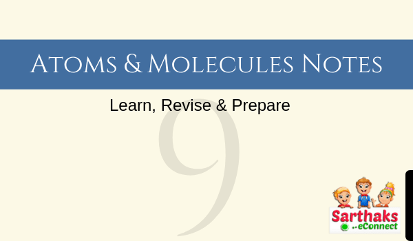 atoms and molecules notes