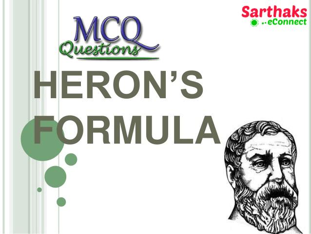 MCQ Questions heron's formula
