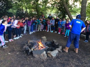 The girls loved the evening sing-song around the campfire.