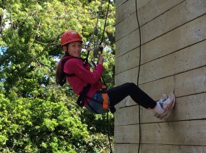 Abseiling was great fun and all the girls were fearless!